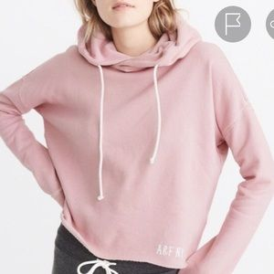 Abercrombie & Fitch Pink Cropped Hoodie